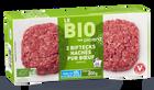 2 biftecks hachés bio