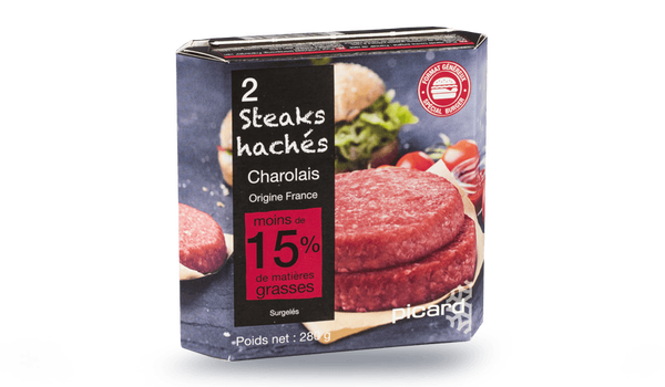 2 steaks hachés charolais Spécial burger,pur boeuf