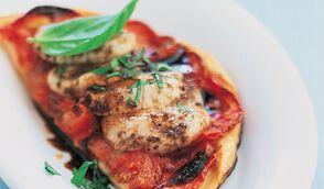 Tartelettes fines à la tomate et aux Saint-Jacques