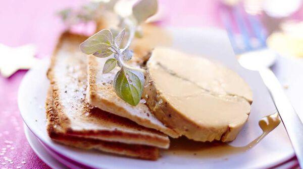 Foie gras menthe-poivre