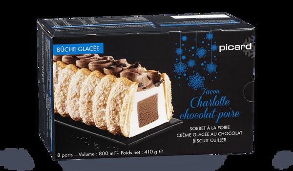 Bûche façon charlotte chocolat-poire, 8 parts
