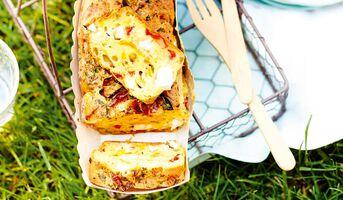 Recette Cake poivron - feta - chorizo - recettes Cap sur l ...