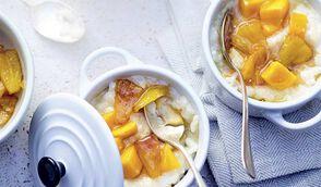 Riz au lait en cocotte aux épices et fruits exotiques