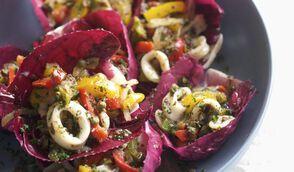 Salade de calmars et poivrons