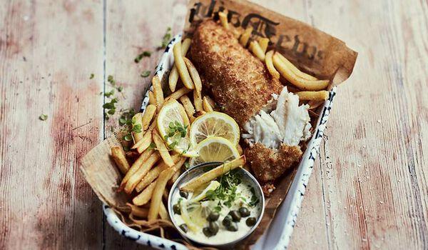 2 filets de merlan façon fish and chips à la bière
