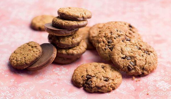 Petits cookies au chocolat et à la noisette