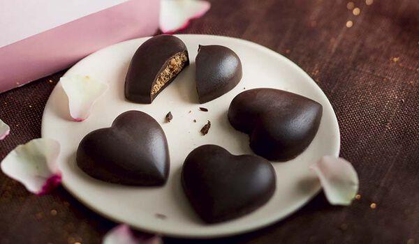 9 coeurs au chocolat noir