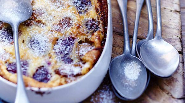 Clafoutis prunes-gingembre