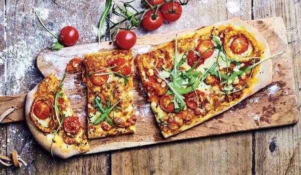 Pizza roquette - tomate cerise