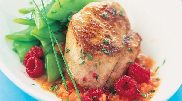 Recette filet mignon de porc aux framboises recettes les plats picard - Cuisson filet de boeuf au four chaleur tournante ...