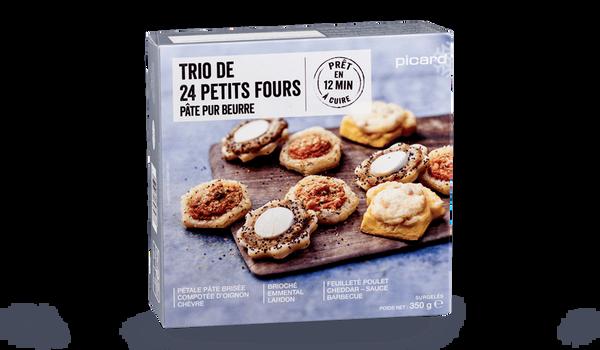 Trio de 24 petits fours, pâte pur beurre