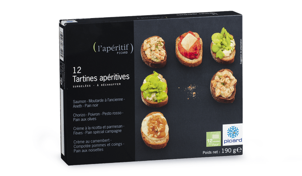 12 tartines apéritives