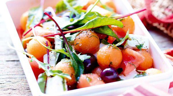 Recette salade de melon past que la menthe et feta recettes les desserts picard - Salade de pasteque ...