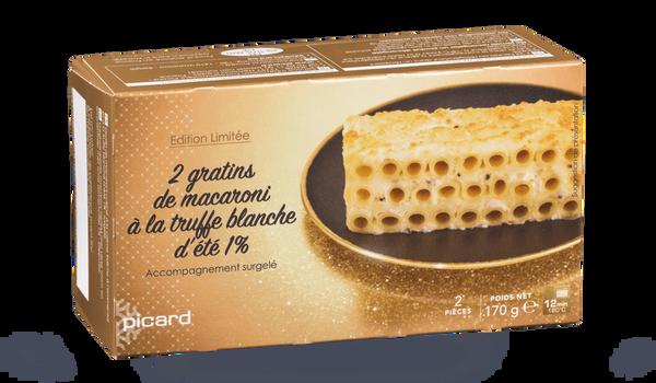 2 gratins de macaroni à la truffe blanche d'été 1%