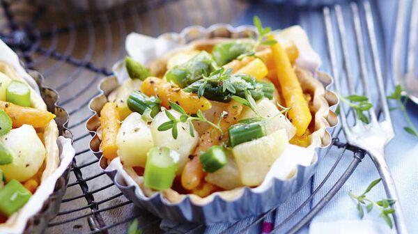 Tartelettes de légumes glacés