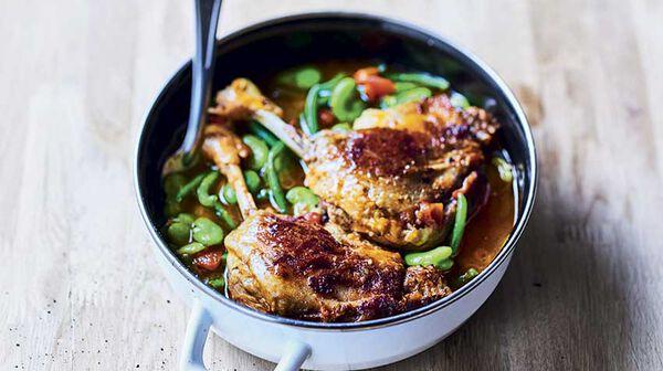 Recette confit de canard aux l gumes verts recettes les - Cuisiner haricots verts surgeles ...