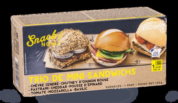 Trio de mini-sandwichs