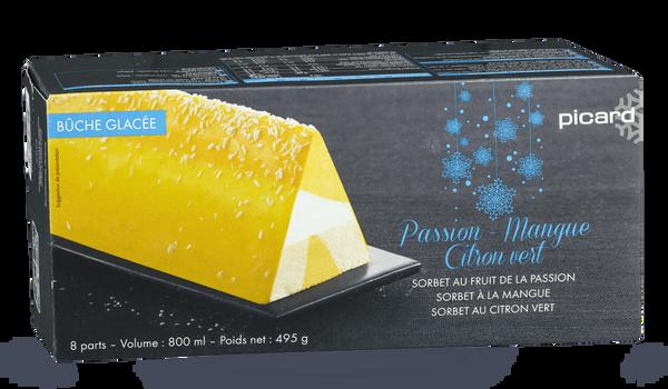 Bûche glacée passion-mangue-citron vert, 8 parts