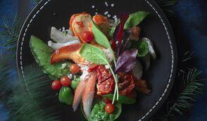 Salade chic de homard et crabe