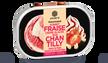 Sorbet fraise, crème glacée façon chantilly