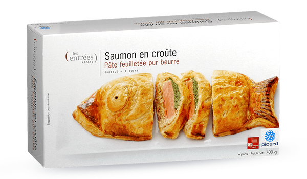 Saumon en croûte , 6 parts