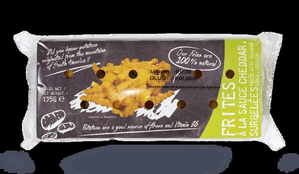Frites micro-ondables à la sauce cheddar