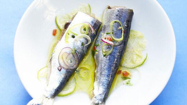 Sardines marinées au citron vert