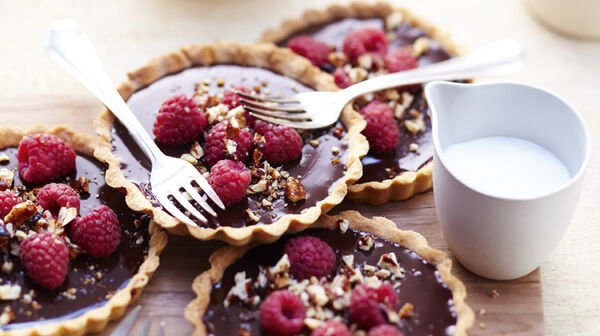 Petites tartelettes chocolat-framboises