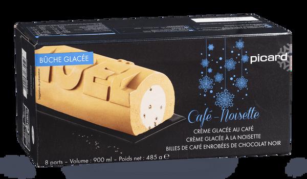 Bûche glacéee café-noisette, 8 parts