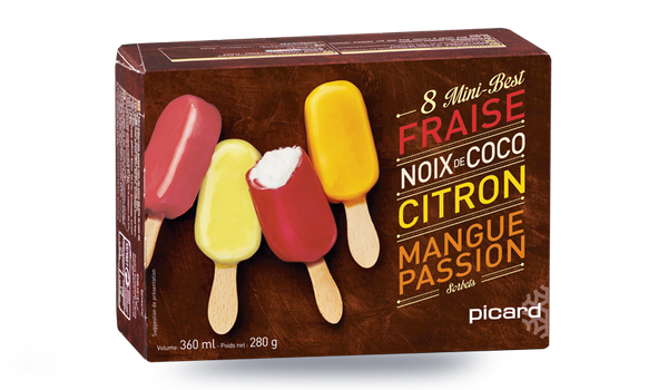 8 mini-Best sorbets- divers enrobages fruits