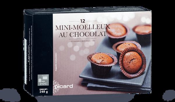 12 mini-moelleux au chocolat, à cuire
