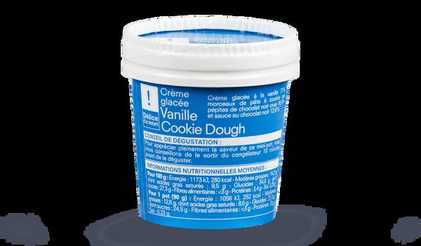 Mini pot crème glacée Vanille-cookie dough