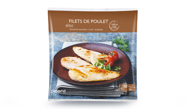 Filets de poulet rôtis cuits (5 à 7 filets)