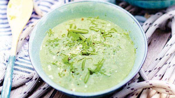 Soupe glacée de haricots verts