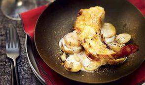Langouste grillée au beurre d'agrumes et gratin de rattes à la cardamome