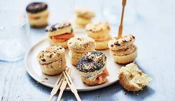 12 mini-bagels apéritifs