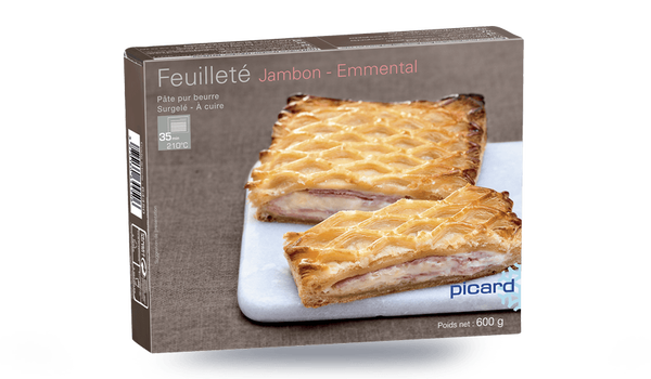 Feuilleté jambon-emmental, 4 parts