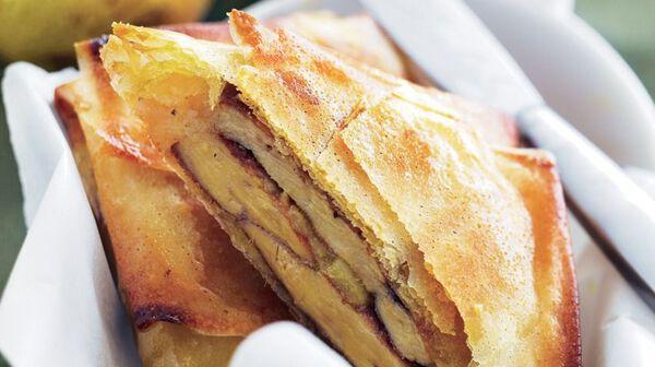Brick de foie gras poire et gingembre