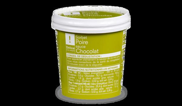 Sorbet poire-chocolat