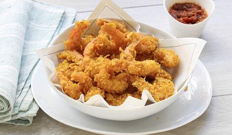 Crevettes panées aux tortillas