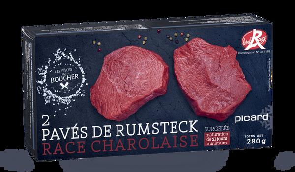 2 pavés de rumsteck Label Rouge