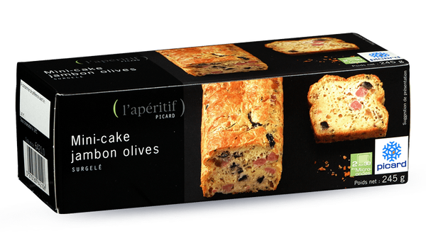 Mini-cake jambon olives (12 tranches environ)