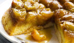 Gâteau aux mirabelles et caramel au beurre salé