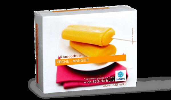 6 smoothies pêche-mangue, sorbet plein fruit