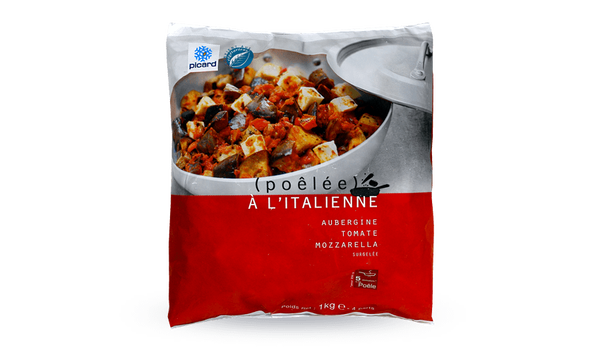 Poêlée à l'italienne,aubergine, tomate, mozzarella