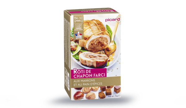 Rôti de chapon farci, farce aux marrons