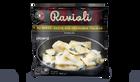 Raviolis au speck, sauce aux fromages italiens
