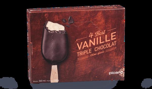4 Best vanille triple chocolat