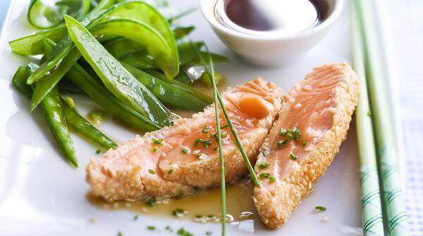 Tataki de saumon sauce ponzu