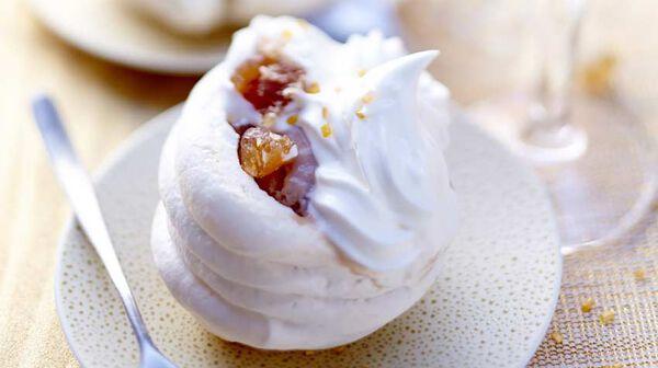 Petite meringue glacée au marron